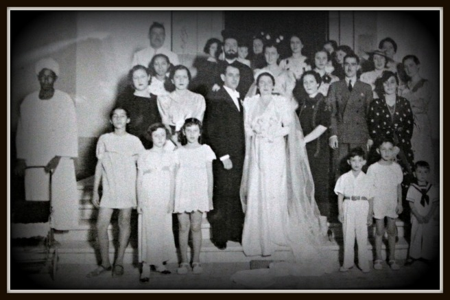 Grandma Etta and grandpa Stelios on their wedding day in Beirut.